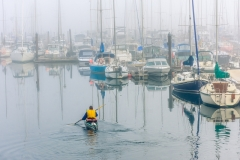 Paddler at the Oak Bay Marina, Oak Bay, B.C.