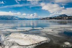 Broken Ice at Kinsman Beach, Kelowna, B.C.