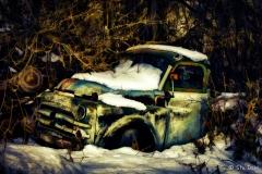 Vintage truck near Oliver, B.C.